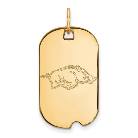 10ky LogoArt University of Arkansas Small Dog Tag