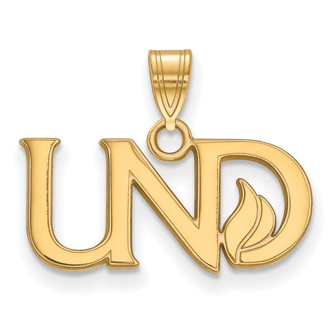10ky LogoArt University of North Dakota Small Pendant