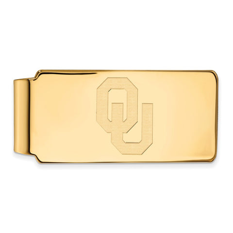 10ky LogoArt University of  Oklahoma Money Clip