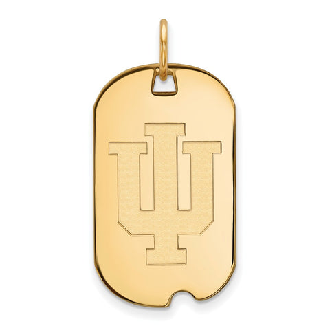 10ky LogoArt Indiana University Small Dog Tag