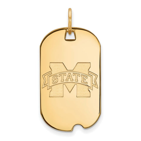 10ky LogoArt Mississippi State University Small Dog Tag