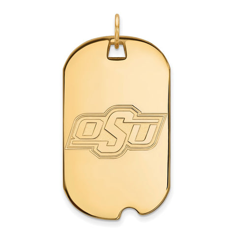 10ky LogoArt Oklahoma State University Large Dog Tag