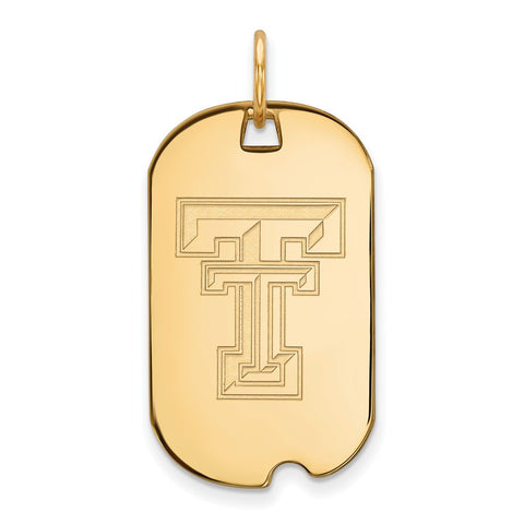 10ky LogoArt Texas Tech University Small Dog Tag