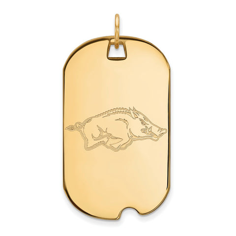 10ky LogoArt University of Arkansas Large Dog Tag