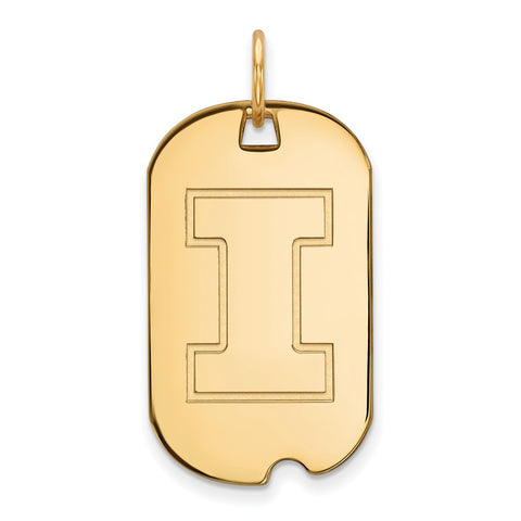 10ky LogoArt University of Illinois Small Dog Tag