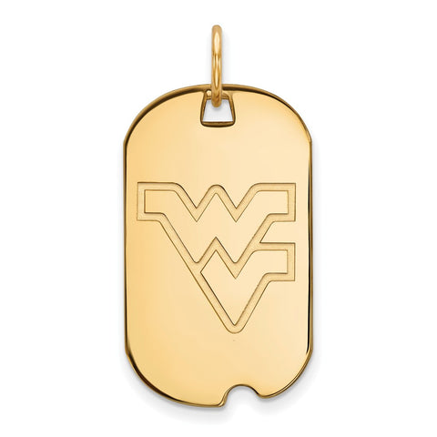 10ky LogoArt West Virginia University Small Dog Tag