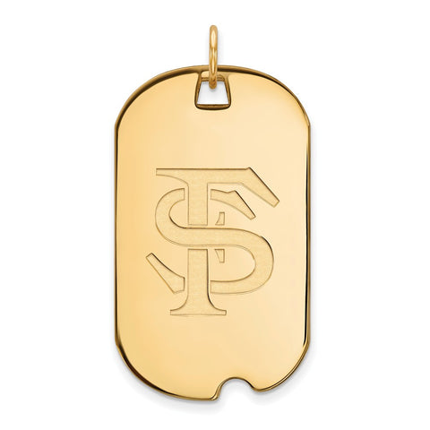 10ky LogoArt Florida State University Large Dog Tag
