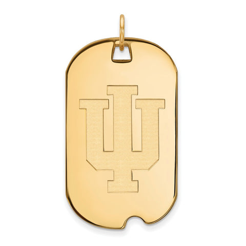 10ky LogoArt Indiana University Large Dog Tag