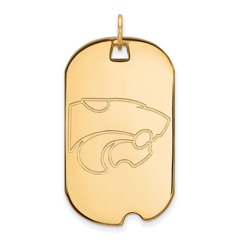 10ky LogoArt Kansas State University Large Dog Tag