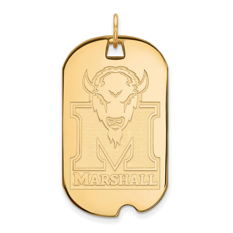 10ky LogoArt Marshall University Large Dog Tag