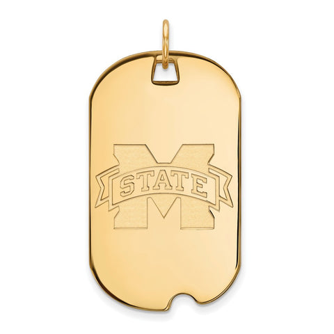 10ky LogoArt Mississippi State University Large Dog Tag
