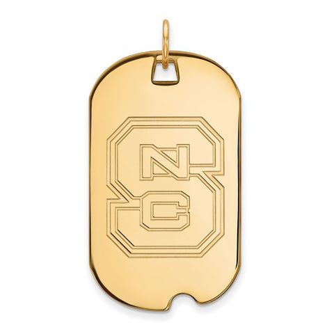 10ky LogoArt North Carolina State University Large Dog Tag