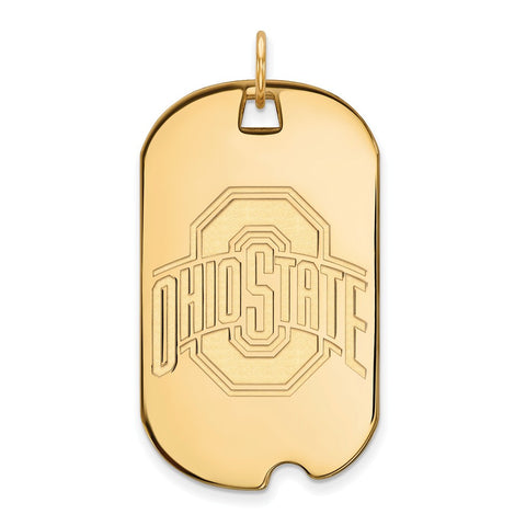 10ky LogoArt Ohio State University Large Dog Tag