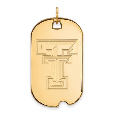 10ky LogoArt Texas Tech University Large Dog Tag