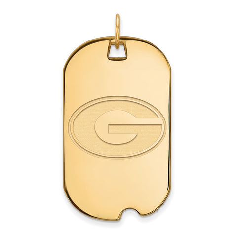 10ky LogoArt University of Georgia Large Dog Tag