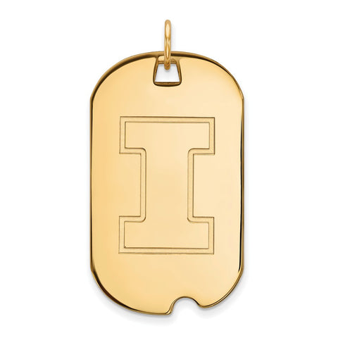 10ky LogoArt University of Illinois Large Dog Tag