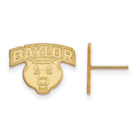 10ky LogoArt Baylor University Small Post Earrings
