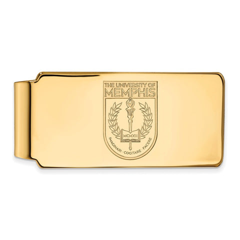 10ky LogoArt University of Memphis Money Clip Crest