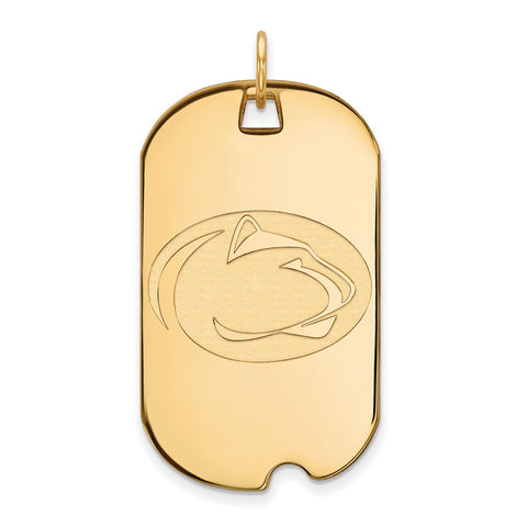 10ky LogoArt Penn State University Large Dog Tag