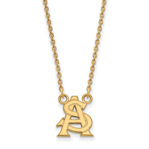 10ky LogoArt Arizona State University Small Pendant w/Necklace
