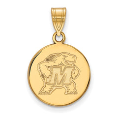 10ky LogoArt University of Maryland Medium Disc Pendant