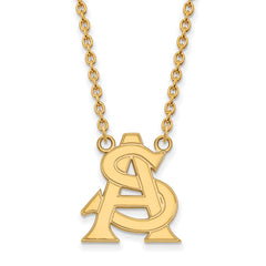 10ky LogoArt Arizona State University Large Pendant w/Necklace