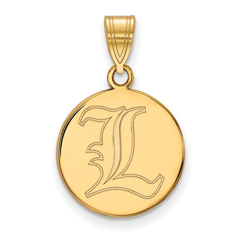 10ky LogoArt University of Louisville Medium Disc Pendant