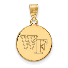 10ky LogoArt Wake Forest University Medium Disc Pendant