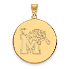10ky LogoArt University of Memphis XL Disc Pendant