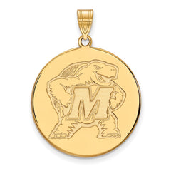 10ky LogoArt University of Maryland XL Disc Pendant