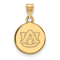 10ky LogoArt Auburn University Small Disc Pendant