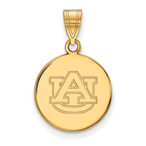 10ky LogoArt Auburn University Medium Disc Pendant