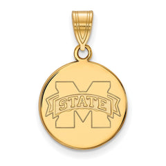 10ky LogoArt Mississippi State University Medium Disc Pendant