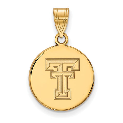10ky LogoArt Texas Tech University Medium Disc Pendant