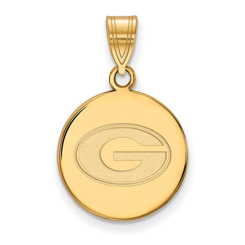 10ky LogoArt University of Georgia Medium Disc Pendant