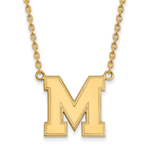 10ky LogoArt Univeristy of Memphis Large Pendant w/Necklace