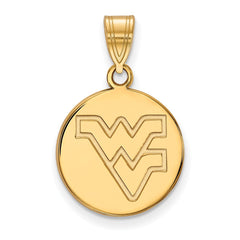 10ky LogoArt West Virginia University Medium Disc Pendant
