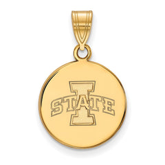 10ky LogoArt Iowa State University Medium Disc Pendant