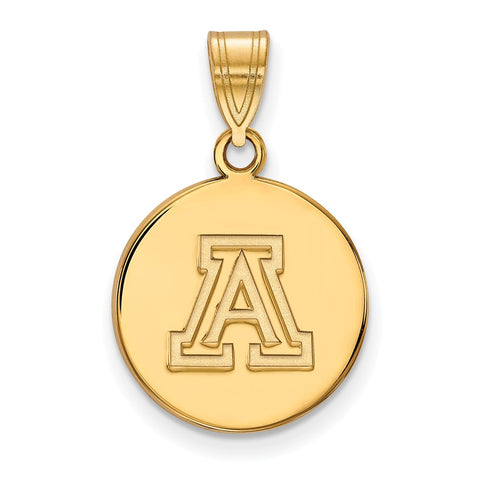 10ky LogoArt University of Arizona Small Disc Pendant