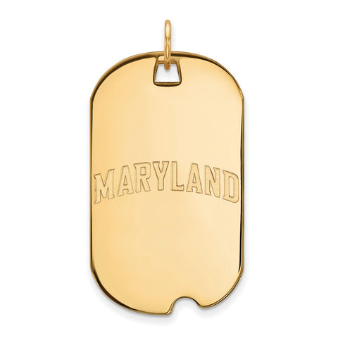 10K Yellow Gold Logoart Maryland Large Dog Tag