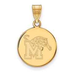 10ky LogoArt University of Memphis Medium Disc Pendant