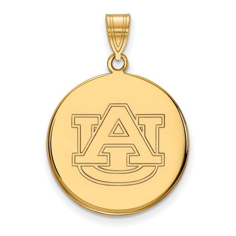 10ky LogoArt Auburn University Large Disc Pendant