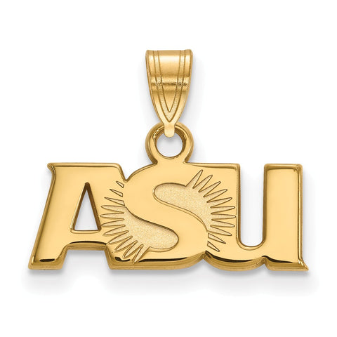Sterling Silver w/GP LogoArt Arizona State University Small Pendant