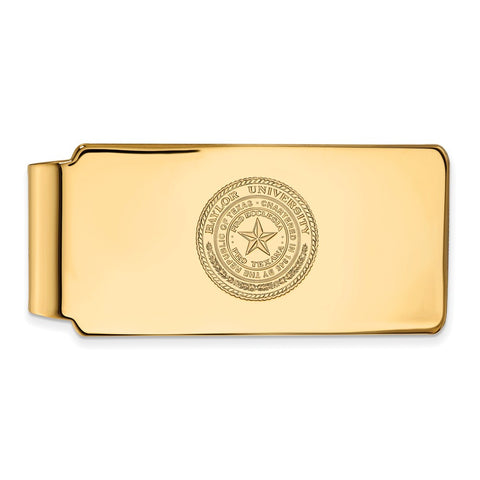10ky LogoArt Baylor University Money Clip Crest