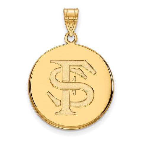 10ky LogoArt Florida State University Large Disc Pendant