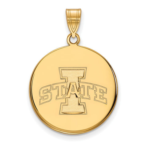 10ky LogoArt Iowa State University Large Disc Pendant