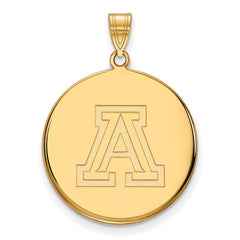 10ky LogoArt University of Arizona XL Disc Pendant
