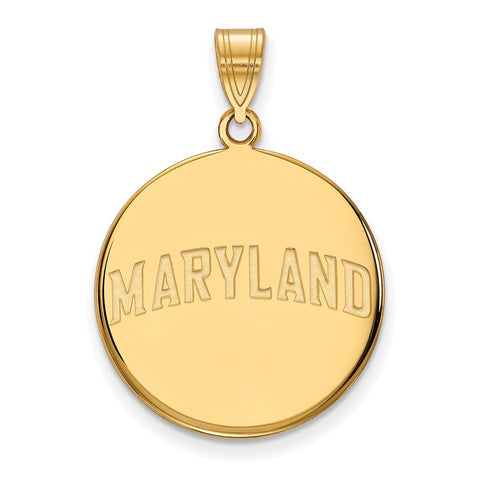 10ky LogoArt University of Maryland Large Disc Pendant