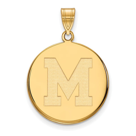 10ky LogoArt University of Memphis Large Disc Pendant