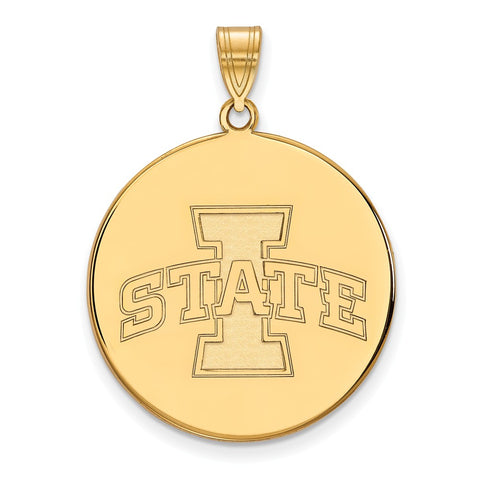10ky LogoArt Iowa State University XL Disc Pendant